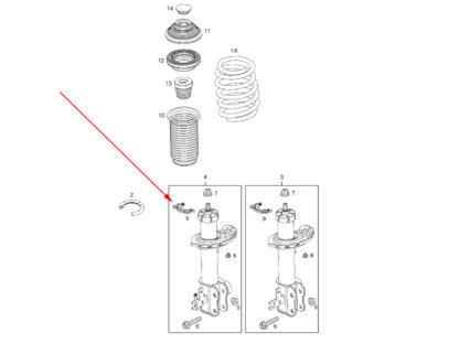 Pierścień mocujący amortyzator Opel Zafira B Astra H III - 344565 / 24402155