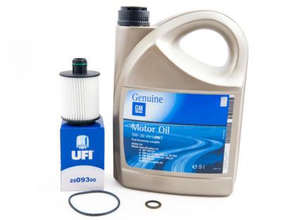 Zestaw serwisu olejowego - filtr olej / olej 5w30 gm Dexos 2 / uszczelka pod korek - Opel Astra J / Casacada / Corsa D / Combo D / Insignia / Meriva B / Zafira C - 1.3 CDTI / 1.6 CDTI / 2.0 CDTI