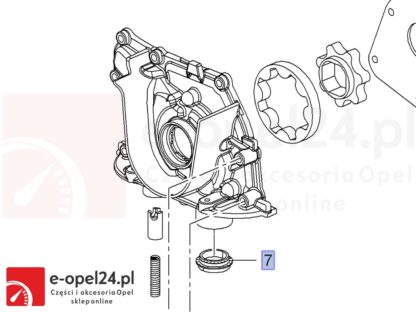 Uszczelniacz smoka pompy olejowej do Insigni / Astry J / Zafiry C - silniki 2.0 Cdti