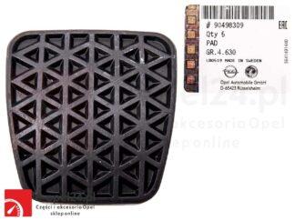 Nakładka na pedał sprzęgła / hamulca Astra G H / Zafira A B - 90498309 / 560775