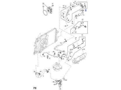 Kolektor wodny do silników 1.9 CDTi 150KM (110KW) Z19DTH Z19DTJ - 1338279 / 55566009