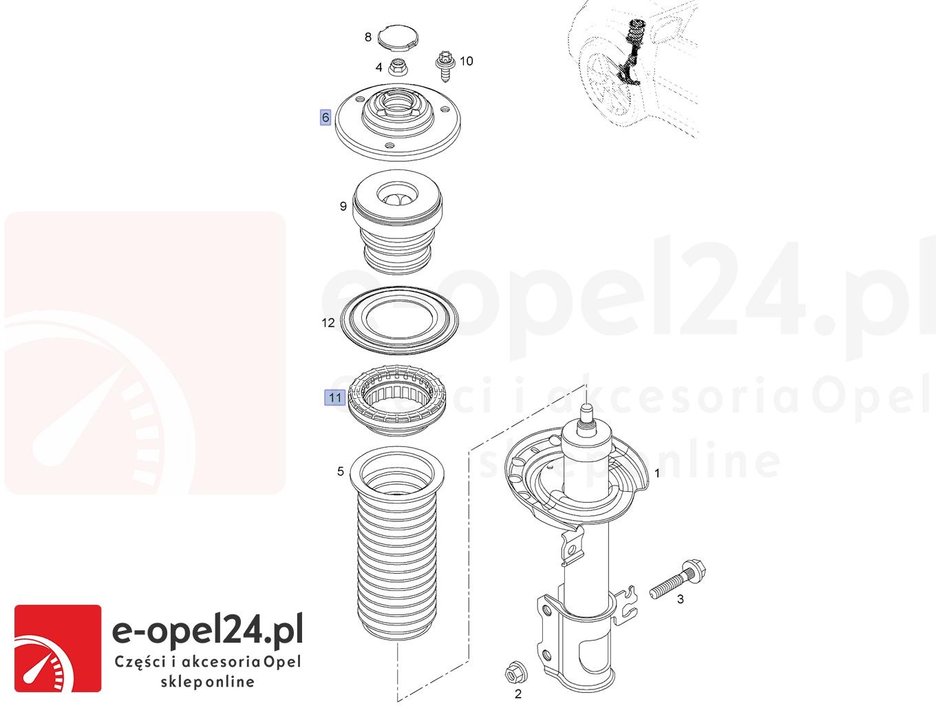 Zestaw Poduszka łożysko Amortyzatora Opel Vectra C Signum 344537 13188763 344665 13270705
