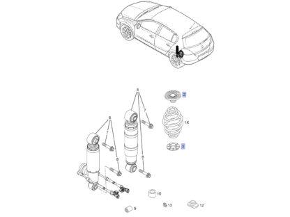 Odbój gumowy sprężyny dolny oraz górny - Opel Astra G (II) H (III) / Zafira A (I) B (II)