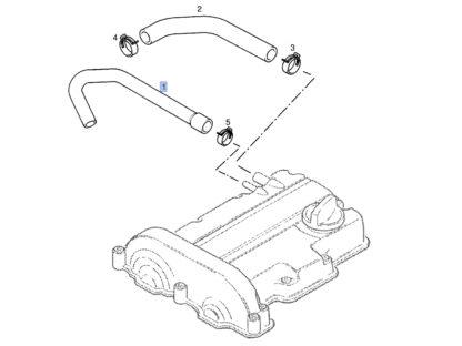 Wąż odmy - odpowietrzający - 5656130 / 55354928 - Opel Astra G / Corsa C / Agila - 1.0 1.2