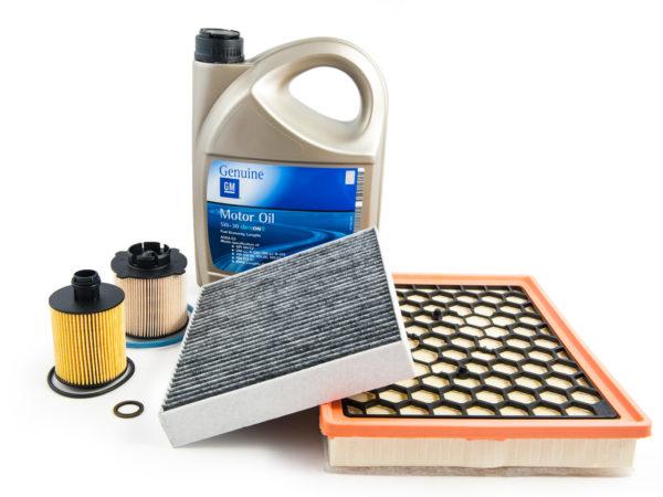 Zestaw filtrów: oleju + powietrza + paliwa + kabinowy + olej GM Dexos 2 5l + uszczelka korka - Opel 2.0 cdti - Insignia / Astra J / Zafira C
