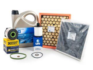 Zestaw oryginalnych filtrów - oleju paliwa powietrza kabinowy + olej GM 5W30 + uszczelka pod korek - Opel Astra J Insignia Zafira C - 2.0 cdti