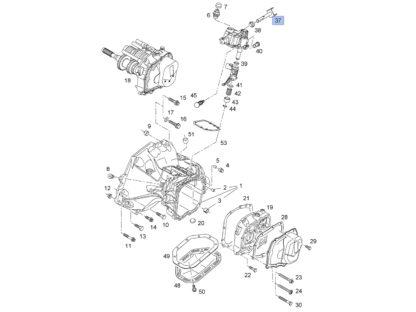 Łącznik wyboru zmiany biegów - Opel Meriva A / Tigra B / Vectra A B - 758405 / 90147931