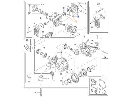 Wymiana oleju w tylnym moście - haldex - uszczelka oraz filtr oleju - Opel Insignia 4 x 4 - 403012 / 403011 / 20986573 / 20946129