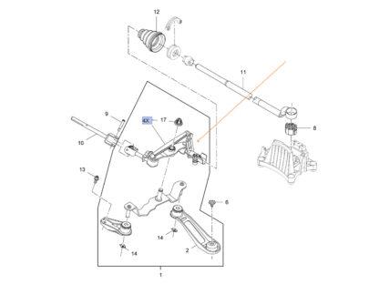 Wybierak - mechanizm zmiany biegów - Opel - 9201029 / 758925