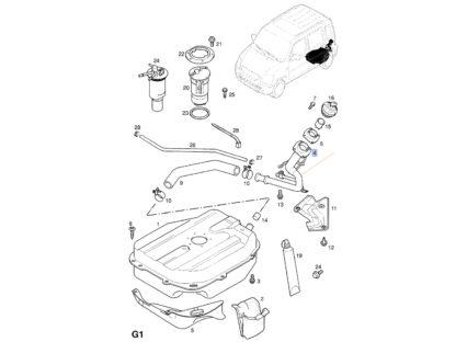 Rura wlewu paliwa Opel Agila 1.0 1.2 - silniki benzynowe - 4700164 / 9203540