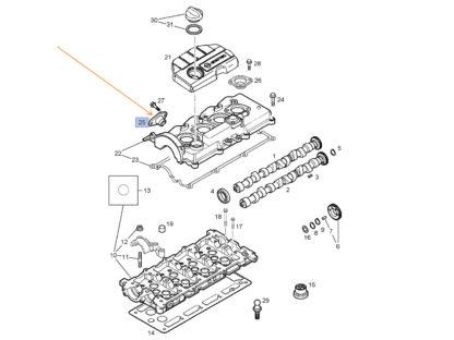 Oryginalne uszczelki boczne pokrywy zaworów wtrysków - Opel Astra G (II) oraz H (III) - 56 07 489 / 97305714