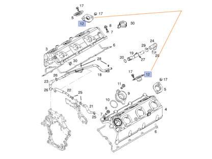 Oryginalne uszczelki boczne pokrywy zaworów wtrysków - Opel Signum oraz Vectra C 3.0 - 56 07 489 / 97305714