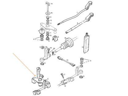 Mechanizm zmiany biegów Opel Astra F Classic / Calibra / Kadett E / Vectra A - 758739 / 90446366