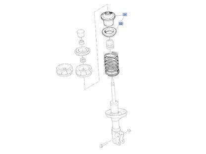 Opel Astra / Combo / Corsa / Meriva / Tigra / Vectra / Zafira Łożysko górne mocowanie amortyzatora przód 312510 / 90468618