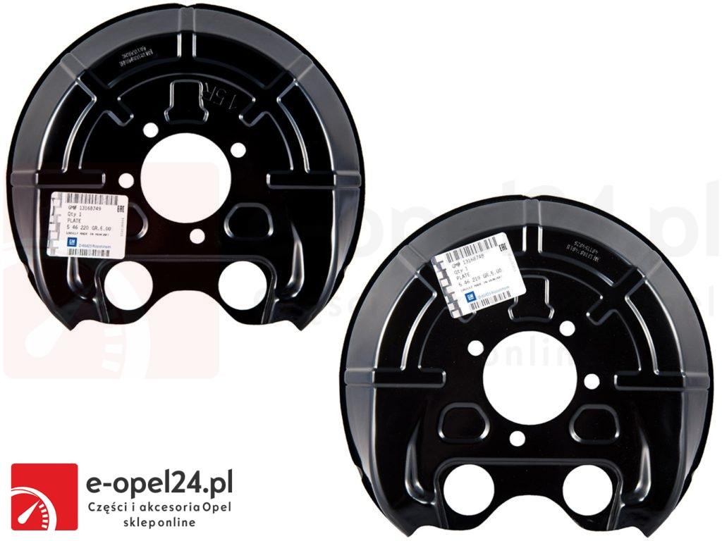 Komplet osłon tarcz hamulcowych Opel Vectra C / Signum - 546219 / 13168748 / 546220 / 13168749