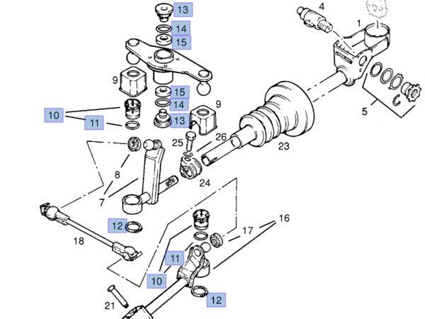 Zestaw do wyeliminowania luzu lewarka zmiany biegów - Opel - 758223 / 758222 / 90442265 / 90223681