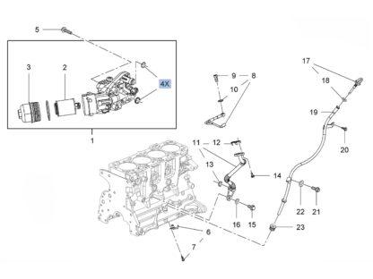 Obudowa filtr oleju 2.0 CDTI - Opel Zafira C / Insignia / Astra J / Cascada - 650217 / 55485373
