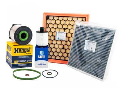 Zestaw filtrów oleju paliwa powietrza nawiewu opel insignia 2.0 cdti