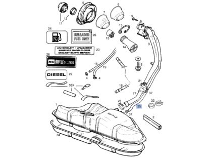 Wąż wentylacja zbiornika paliwa Opel Vectra B - 806623 / 9181889 / 806642 / 90499642