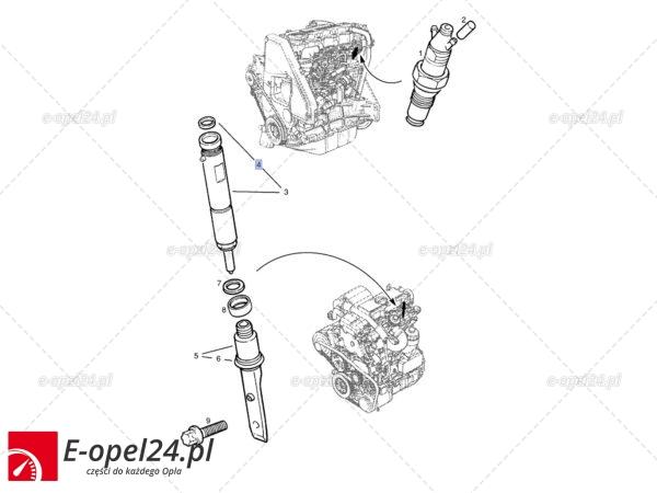 Trawers wtryskiwacza - uszczelniacz - Opel Astra G / Frontera B / Omega B / Signum / Vectra B C / Zafira A