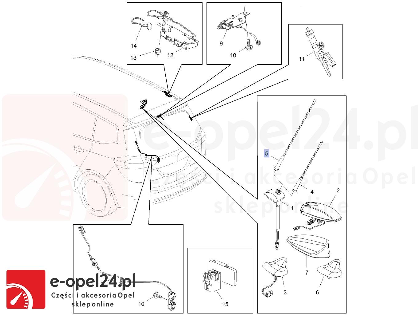 Maszt antenMaszt anteny samochodowej Opel Zafira C - 1784029-13288180 - 406mmy samochodowej opel Zafira C - Maszt anteny samochodowej Opel Insignia - Maszt anteny Opel Astra J 1784029-13288180 - 406mm
