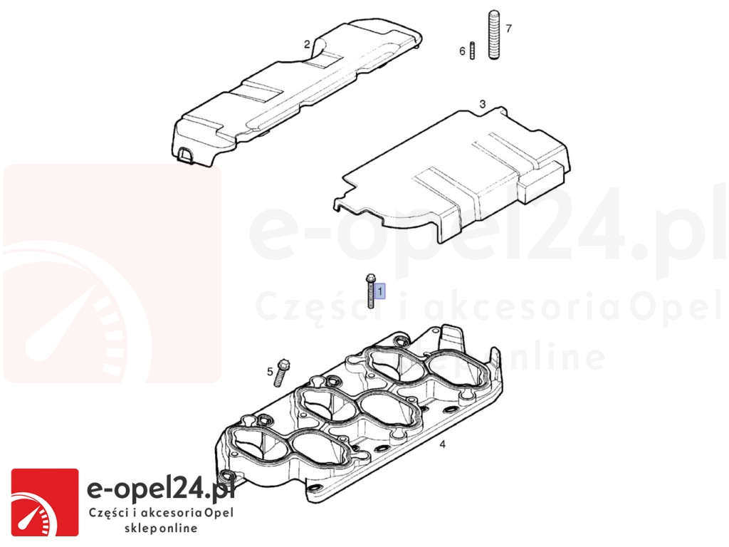 Śruba podstawy kolektora ssącego Opel Signum Vectra C 3.2 v6 849794 / 24454547