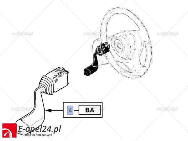 Zespolony przełącznik kierunkowskazów oraz świateł drogowych - 9185413 / 1241210