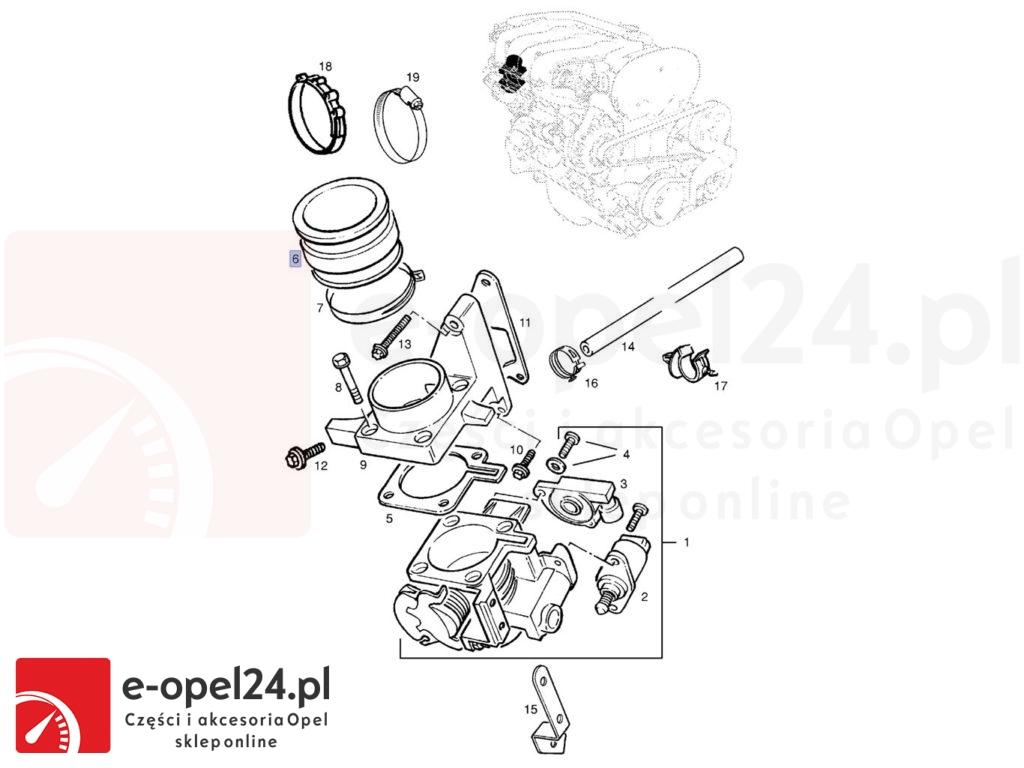 Opel Astra F / Corsa B / Tigra B / Vectra B - przepustnica wąż 838276 / 90470097