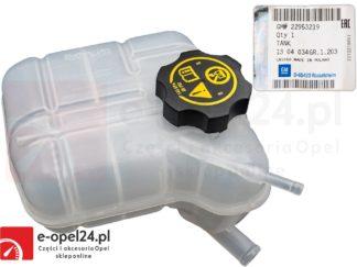 Zbiornik wyrównawczy z korkiem OE płyny chłodniczego Opel Insignia 1304034 / 22953219