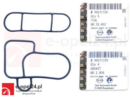 Uszczelki chłodnicy oleju do silników diesla 2.0 oraz 2.2 DTI - Opel Vectra B C / Signum / Sintra / Astra G / Zafira A / Frontera B / Omega B 5650872 / 0650956 / 90571728 / 90571725