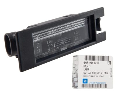 Lampka Tablicy rejestracyjnej Opel tigra B - 6223506 / 9164143