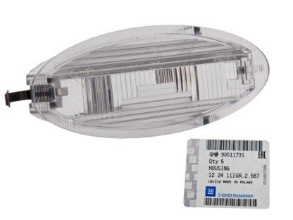 Górna obudowa lampki oświetlenia tablicy rejestracyjnej GM - Opel Agila / Astra F - 1224111 / 90511731