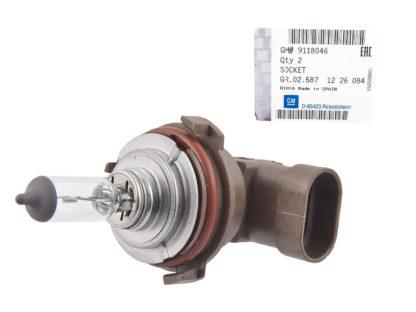Oprawka w zestawie z żarówką H7 - Opel Astra G - 9114646 / 2098928 / 1226084 / 90512338