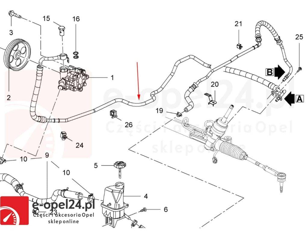 Przewód wspomagania Opel Insignia 2.0 cdti – 951105 / 22855327