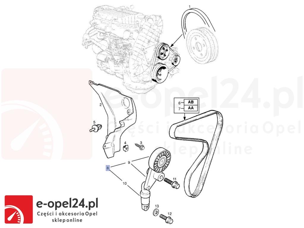 Napinacz paska Opel Frontera B / Omega B 2.0 / 2.2 DTi - 1340549 / 90542637