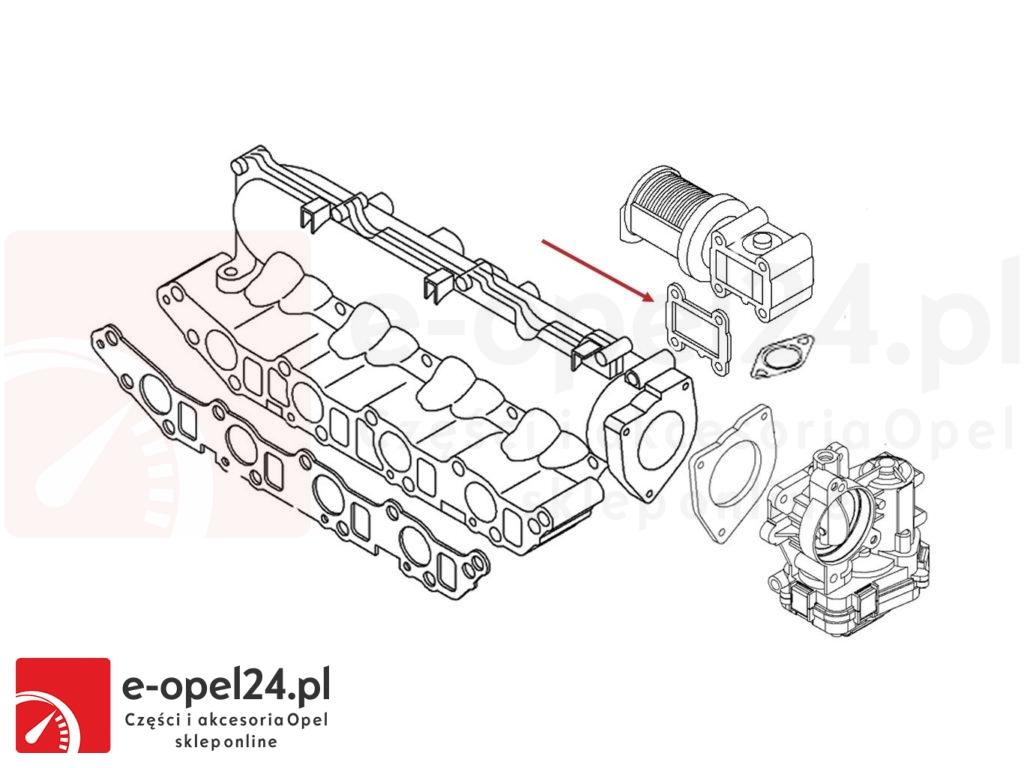 Uszczelka montowana między kolektor ssący a zawór egr - 1.9 cdti - Opel Vectra C / Signum / Astra H / Zafira B - 5851374 / 93181665
