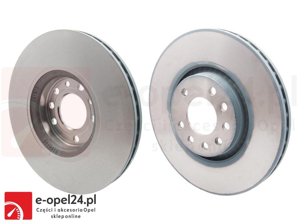 Oryginalne tarcze i klocki osi przedniej oraz śruby mocujące - Opel Astra H G / Zafira A B - 569909 / 90278945