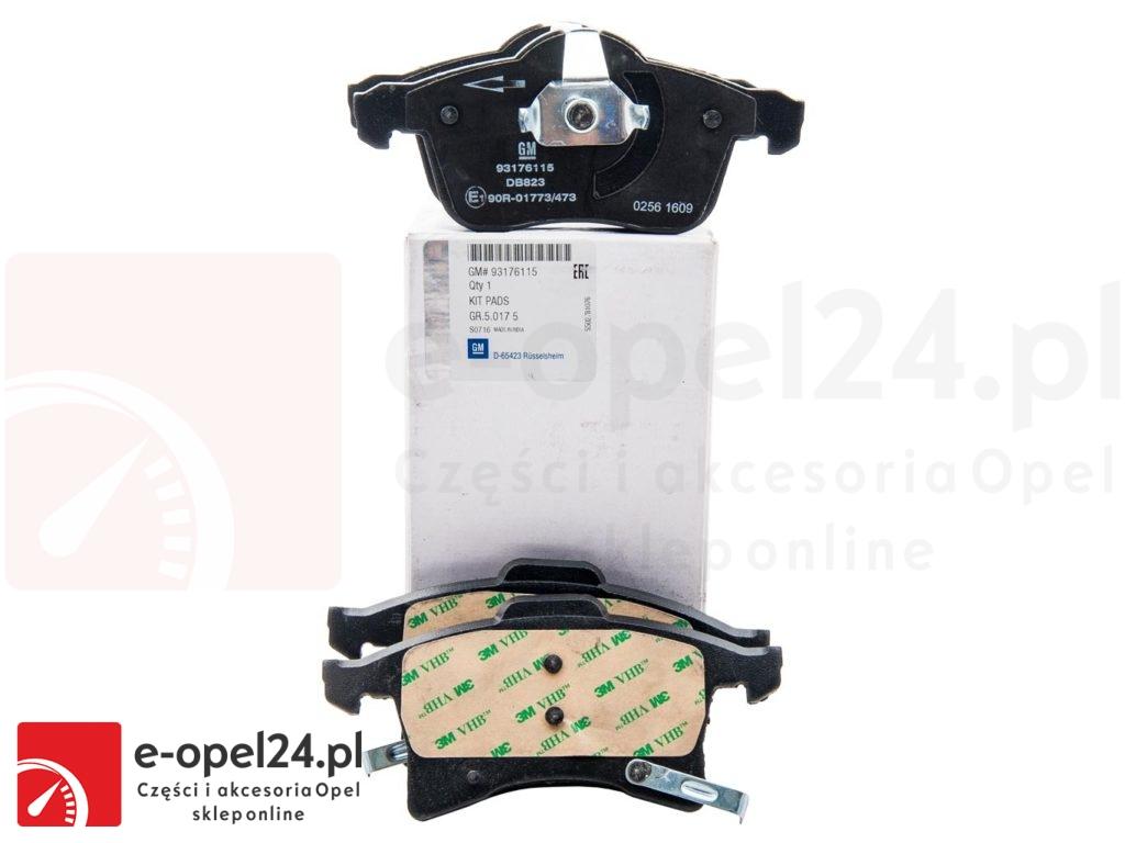 Zestaw Oryginalnych tarcz i klocków osi przedniej - Opel Astra H G / Zafira A B - 1605998 / 93186713
