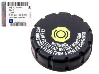 Oryginalny korek zbiornika płynu hamulcowego - Opel Astra G H / Corsa C / Meriva A B / Signum / Vectra C / Zafira A B - 559261 / 93189060