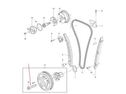 Śruba koła pasowego Opel 1.0 1.2 1.4 614986 9129242