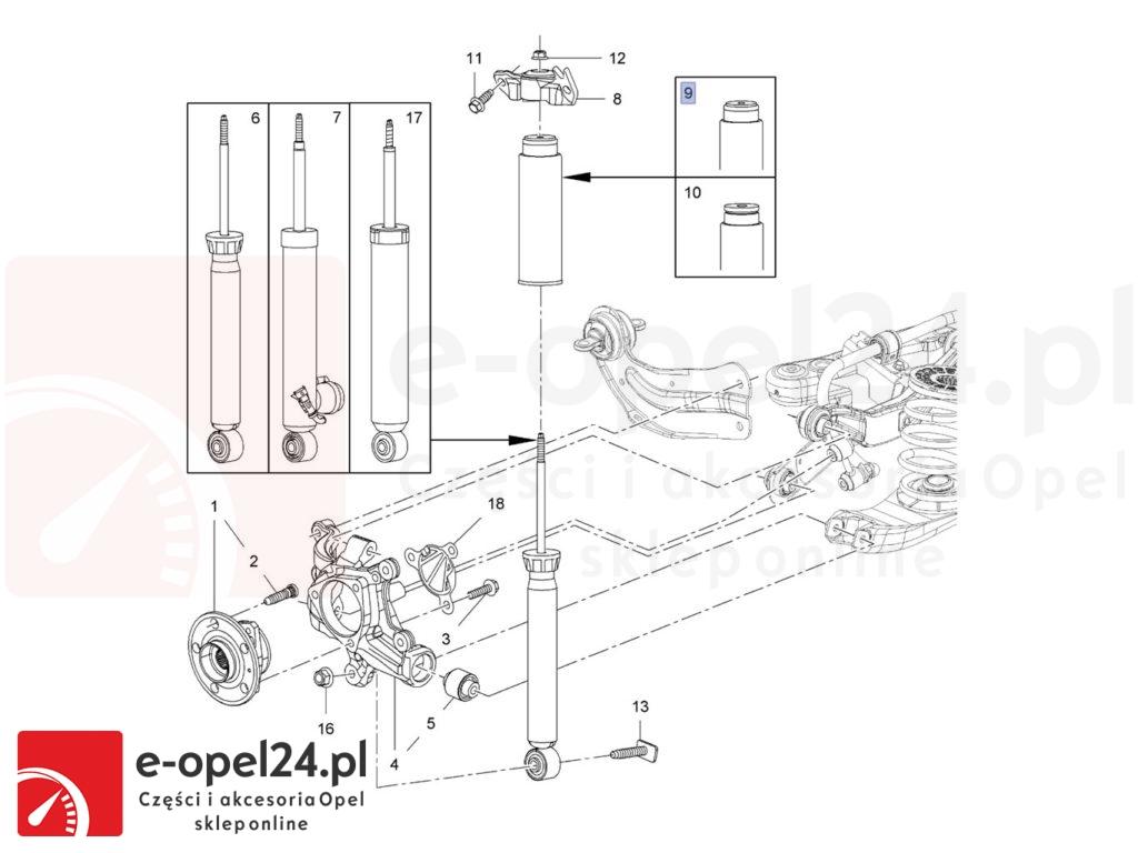 Zestaw osłon amortyzatora tylnego do opla insigni A - Hatchback