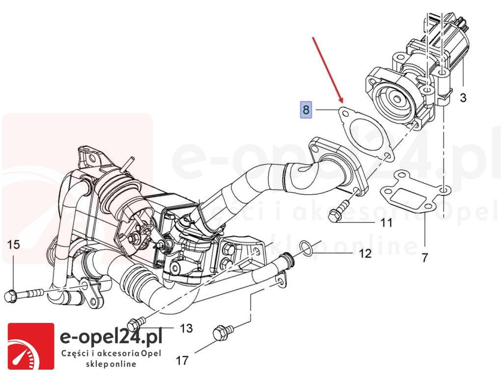 Uszczelka pod EGR 1.7 CDTI - Opel 8 51 146 / 98001137