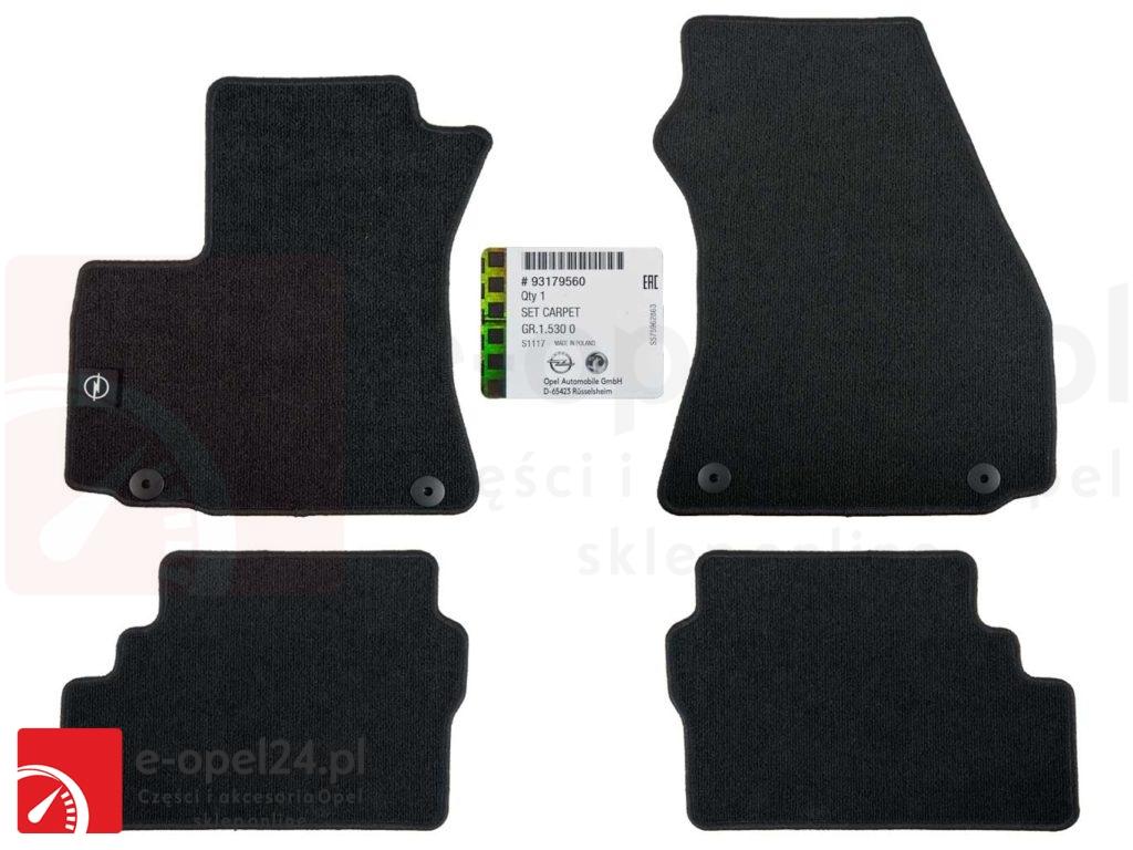 Komplet czterech dywaników welurowych - Opel Zafira A 1724216 93179560