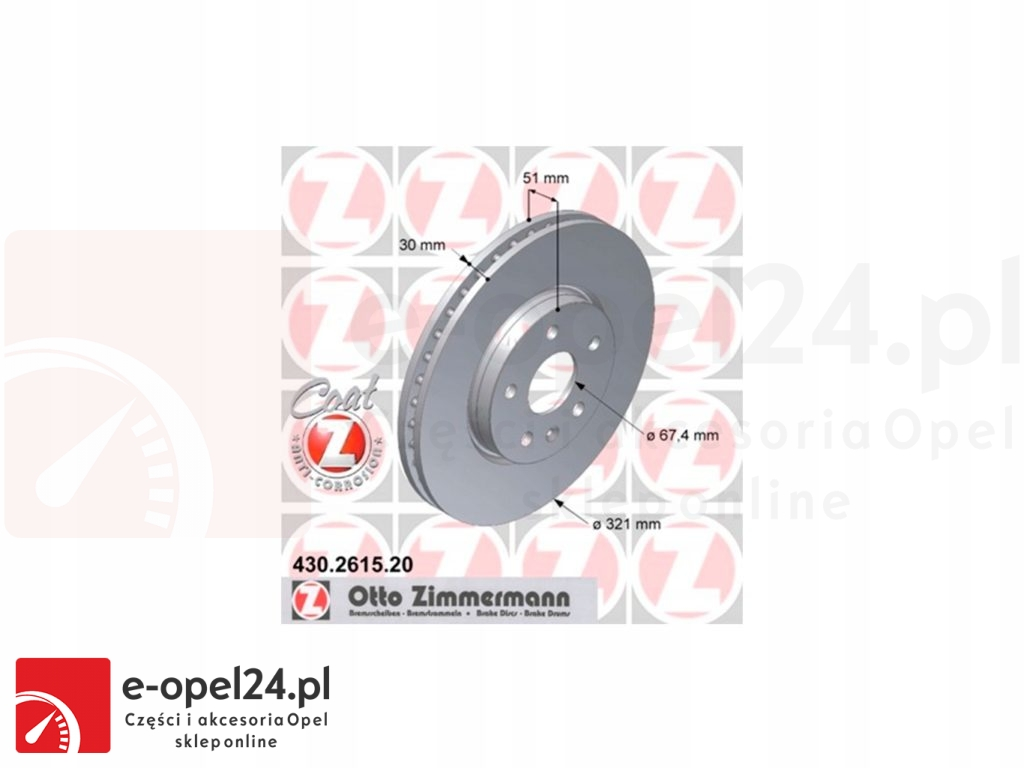 Tarcze hamulcowe przód Opel Insignia A 569422 13502214 430.2615.20