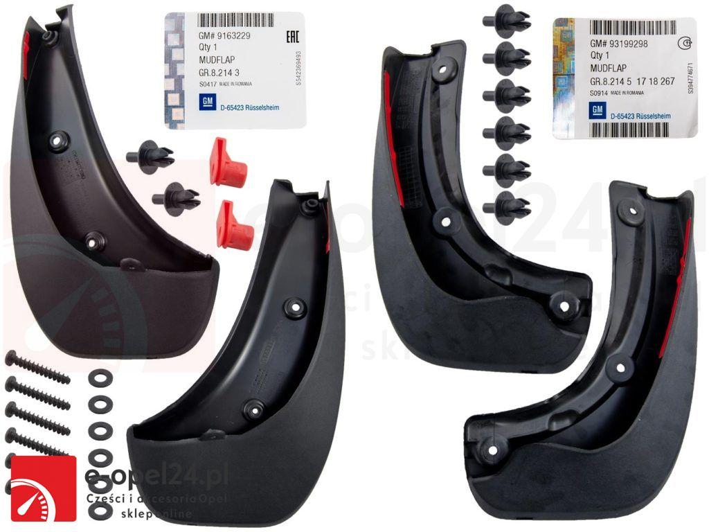 Oryginalne chlapacze przód i tył Opel Zafira B - 1718267 / 1718291 / 93199298 / 9163229