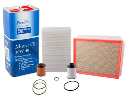 Zestaw filtrów + Olej 5W30 Opel Astra H III 1.9 CDTi