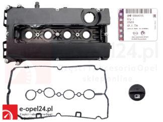 Oryginalna pokrywa zaworów GM w zestawie z uszczelką, oryginalnym korkiem wlewu oleju oraz zestawem śrub do Opel Astra H J / Insignia / Meriva A / Mokka / Vectra C / Signum / Zafira B C 1.6 oraz 1.8 - 5607258 / 55564395