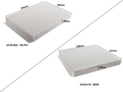 Filtr kabinowy do Opla Zafiry A - 6808611/93182436 - 6808606/13175553