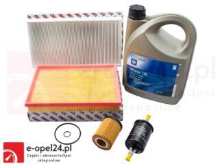 Zestaw filtrów + olej 10W30 5L + uszczelka korka - Opel Corsa C 1.0 / 1.2 / 1.4