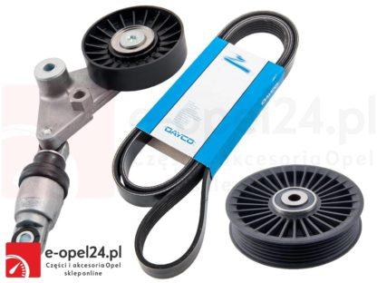 Zestaw napinacza paska klinowego z paskiem oraz rolką prowadzącą - Opel Astra G / Zafira A / Signum / Vectra C